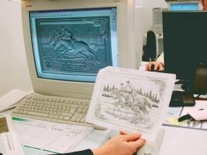 esempio di progettazione al computer di una lavorazione in lamina di argento eseguita presso la FAG s.r.l. di Osimo (AN)