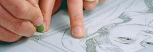 esempio di progettazione al computer di una lavorazione in lamina di argento eseguito presso la FAG s.r.l. di Osimo (AN)