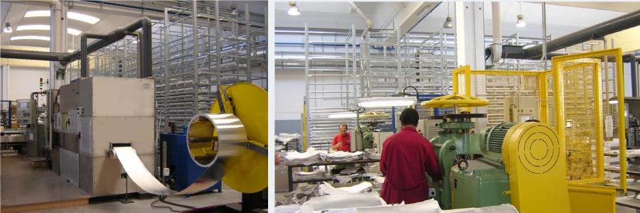 fasi di lavorazione della lamina di argento presso la FAG s.r.l. di Osimo (AN)
